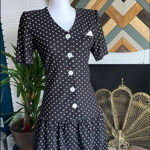 Polka Dot Vintage Midi Dress